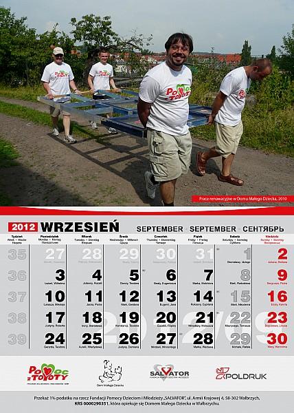 Charytatywny kalendarz