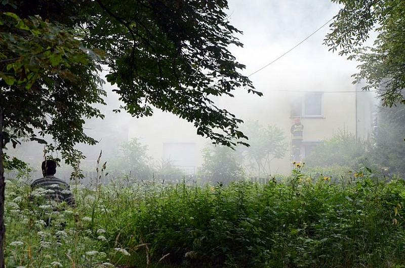 Pożar domu w Jedlinie