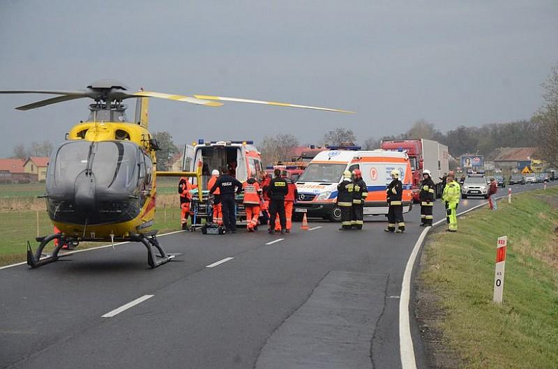 Wypadek na krajówce - foto/video