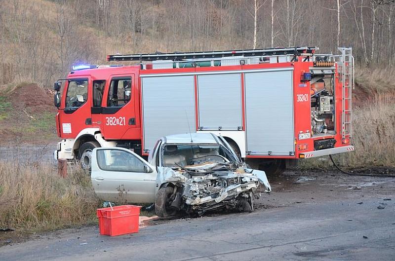 Groźny wypadek w Strudze – foto/video