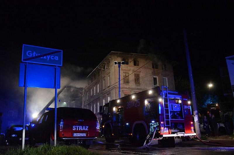 Nocny pożar w Głuszycy - zobacz foto/video