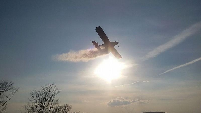 Duży pożar w Walimiu